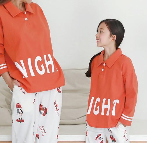 11 家居服純棉睡衣兩件套 親子裝7554