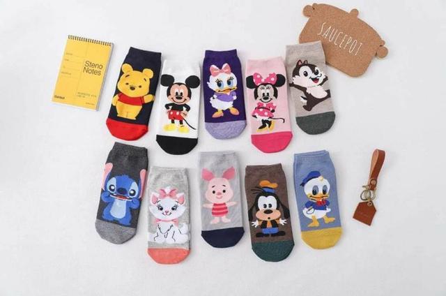 迪士尼系列刺繡短筒襪(一包10雙)