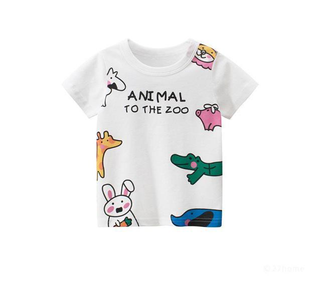 童裝| 男女童可愛動物純綿短袖上衣