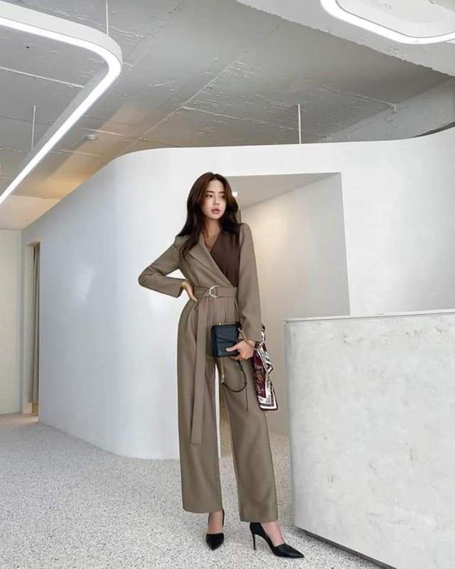 【預購🇰🇷韓國】氣質撞色連身褲