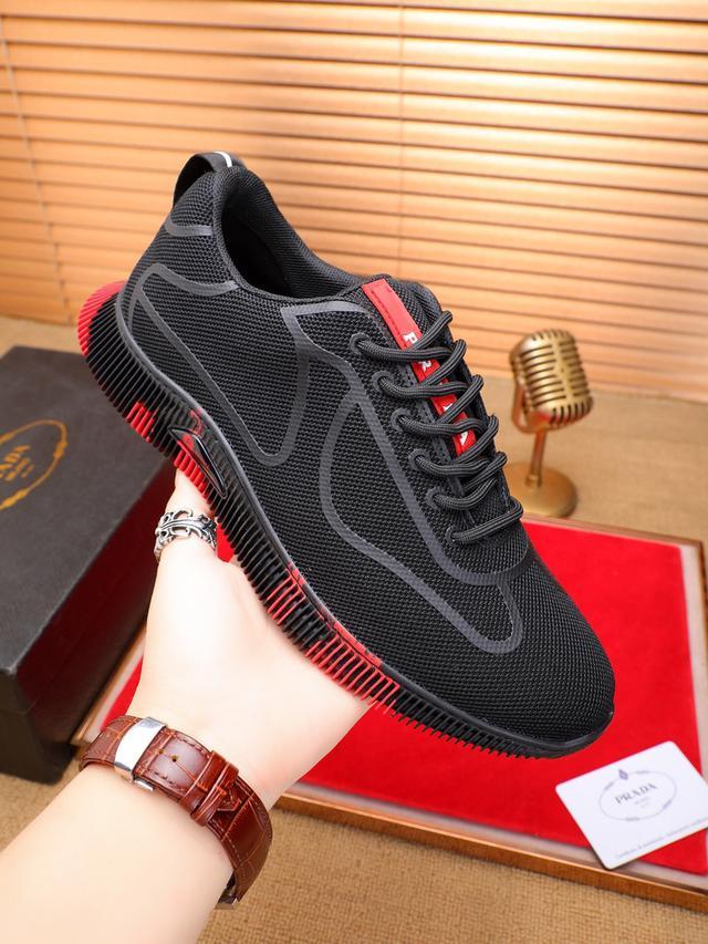 普拉达男鞋休闲鞋
