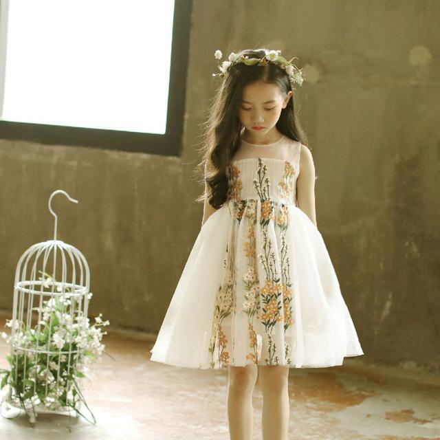 童裝女童連衣裙夏裝寶寶裙子夏季韓版蕾絲背心夏裙中大兒童公主裙
