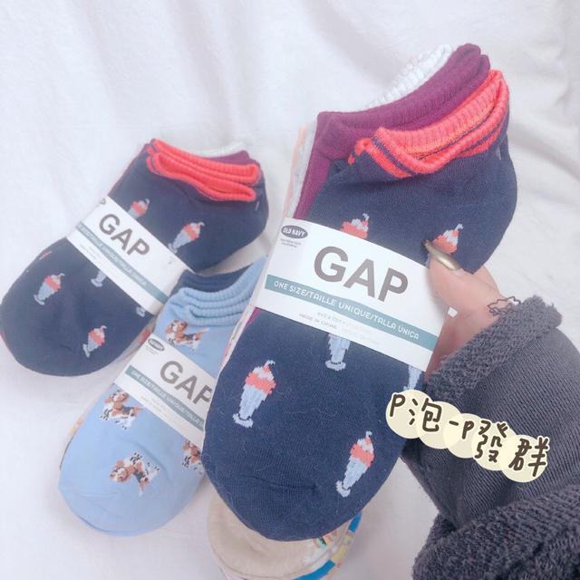 日本境內版GAP純棉除臭襪