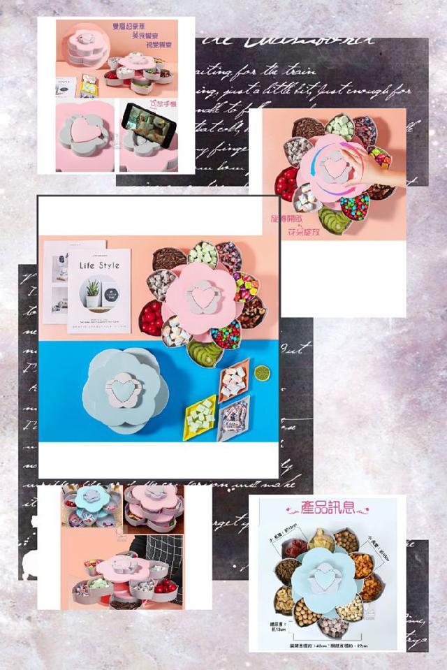 限定節日專屬🆕️♡造型花朵🉑️旋轉歐式風糖果盒