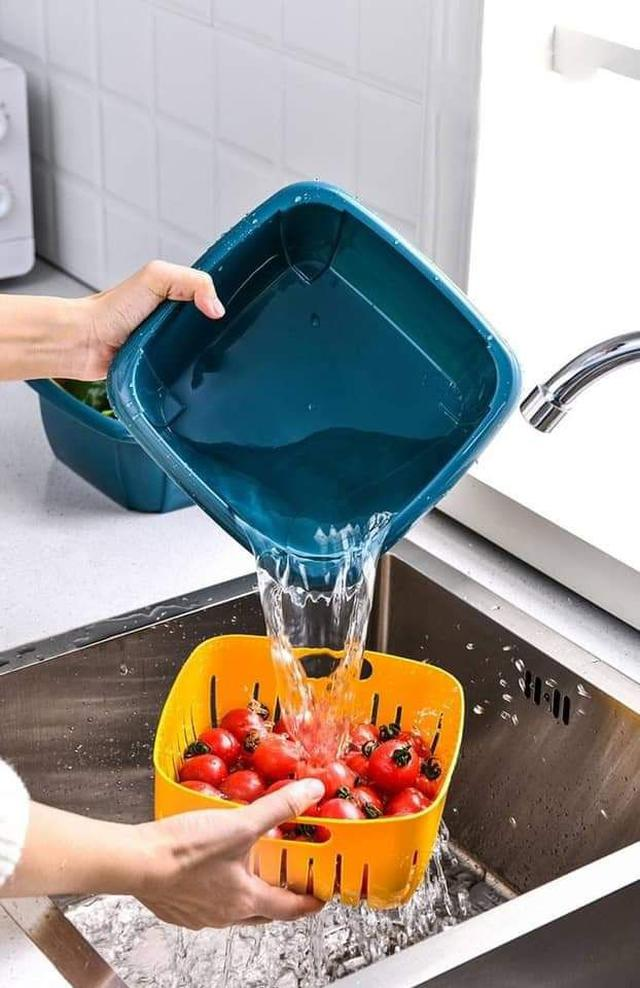 二合一附蓋瀝水保鮮盒