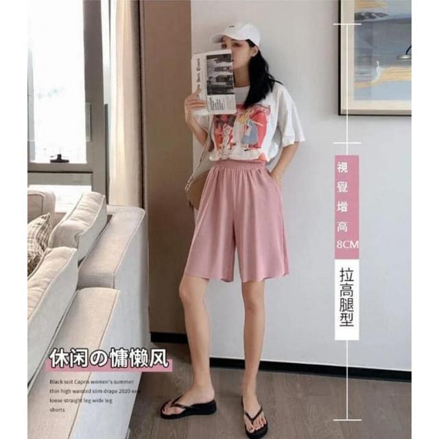 #預購K336 - 冰絲五分褲垂感顯瘦五分褲