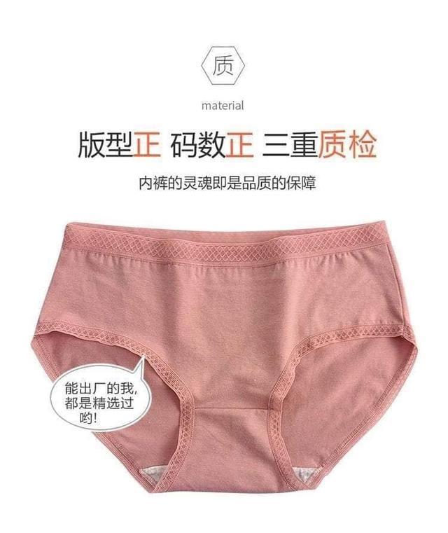 🌈日系中腰蕾絲抗菌棉內褲12件