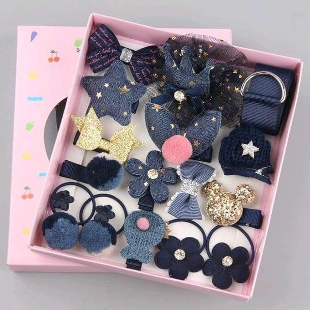(預購S)韓國兒童髮飾18件套禮盒組