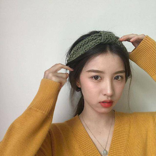 (預購S) H102 - 韓國熱銷毛線針織蝴蝶結髮帶