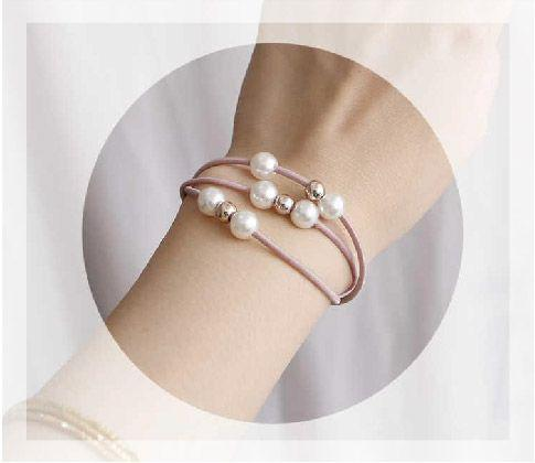 珍珠髮圈,一組10入,10入價,現貨