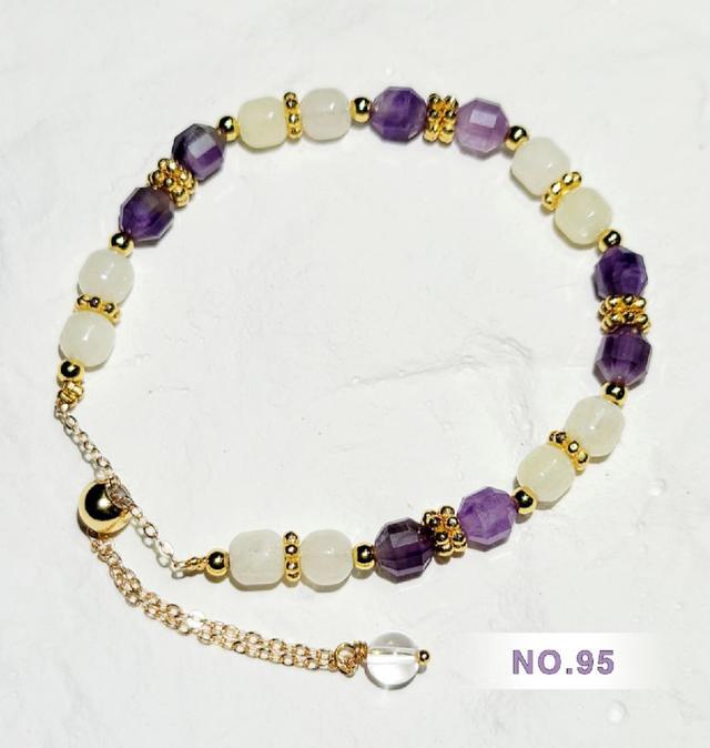 -晶妍 手作飾品- 紫色水晶系列 NO.95~100 (EV2287) #現貨