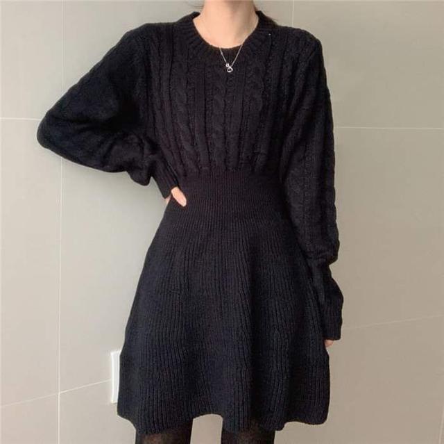 【預購】韓版ins麻花針織洋裝