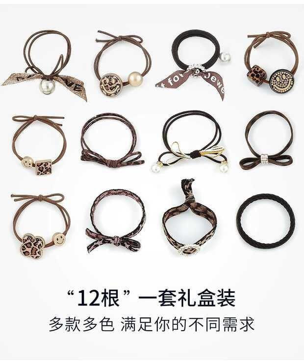 (預購e) 韓國簡約豹紋髮飾12件組