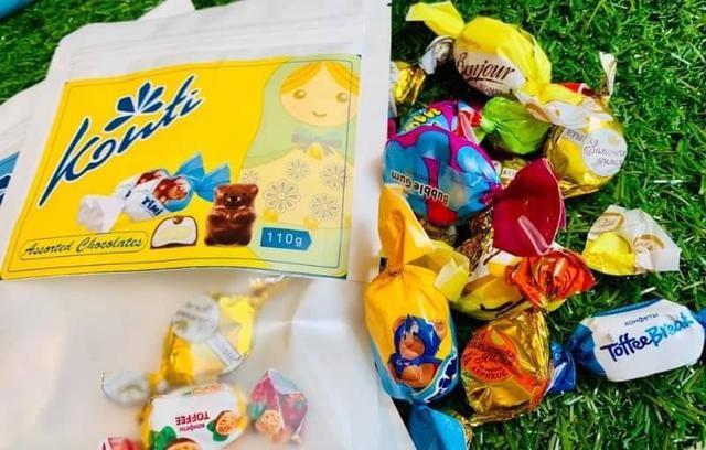 Konti俄羅斯熊麻吉綜合巧克力包/110g