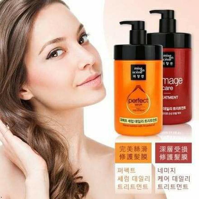 韓國 Mise en scene 完美深層受損護髮膜 / 完美絲滑全效修護髮膜 1000ml
