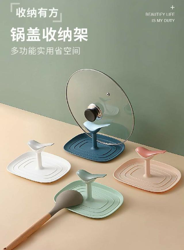 (預購s+) 小鳥創意造型坐式鍋蓋架