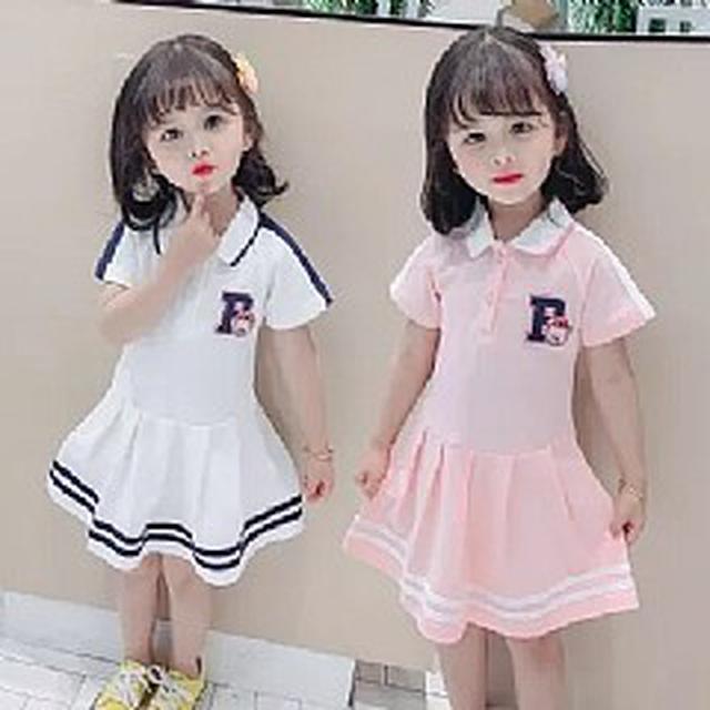 優質小童裝 (90-130) 小熊POLO針織運動連衣裙(2色)