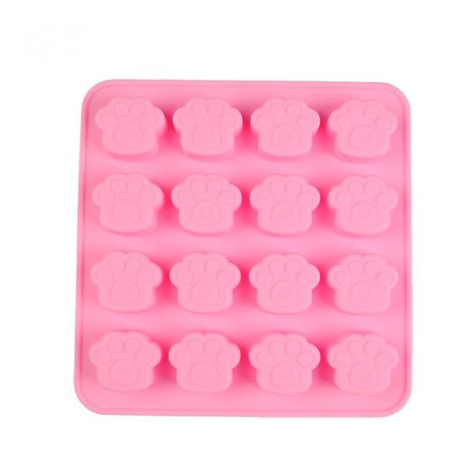 矽膠蛋糕模  貓爪蛋糕模具 16連 6連 巧克力模 烘焙矽膠模具 糖模