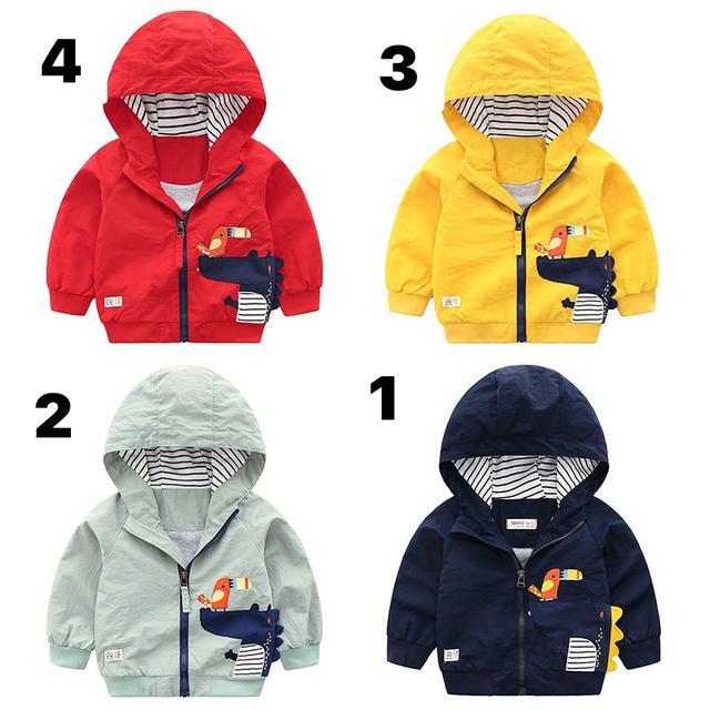 2020新款秋款韓版精品童裝男童兒童可愛卡通小鰐魚夾克拉鍊衫