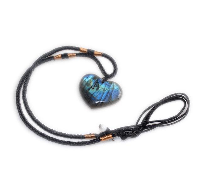 天然能量石-拉長石心形吊墜(增強透視力)