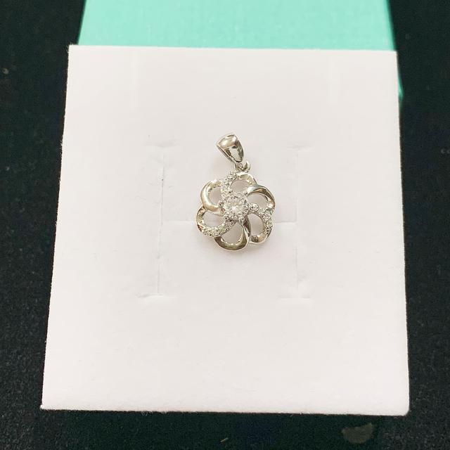 【TB】PT950白金 立體花朵墜飾