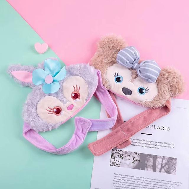 🌼可愛卡通少女心日系星黛露雪梨梅紫色兔子达菲遮光眼罩