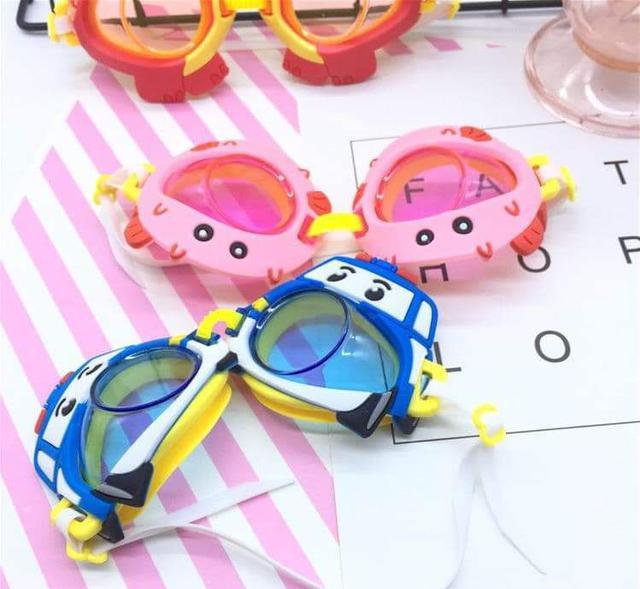 現貨Poli*1(預購S)可愛立體卡通兒童泳鏡