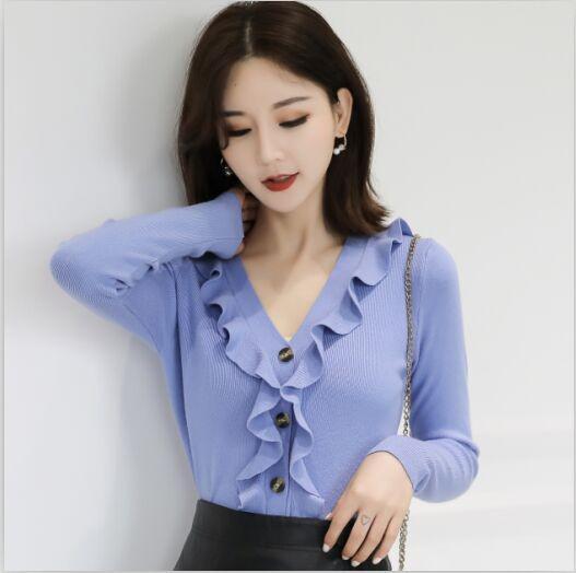 11  新款潮長袖毛衣上衣服設計感(五色)