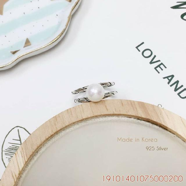 韓國925純銀質感可調式戒指