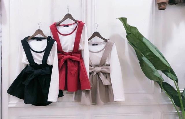 韓版棉料同款綁帶吊帶裙