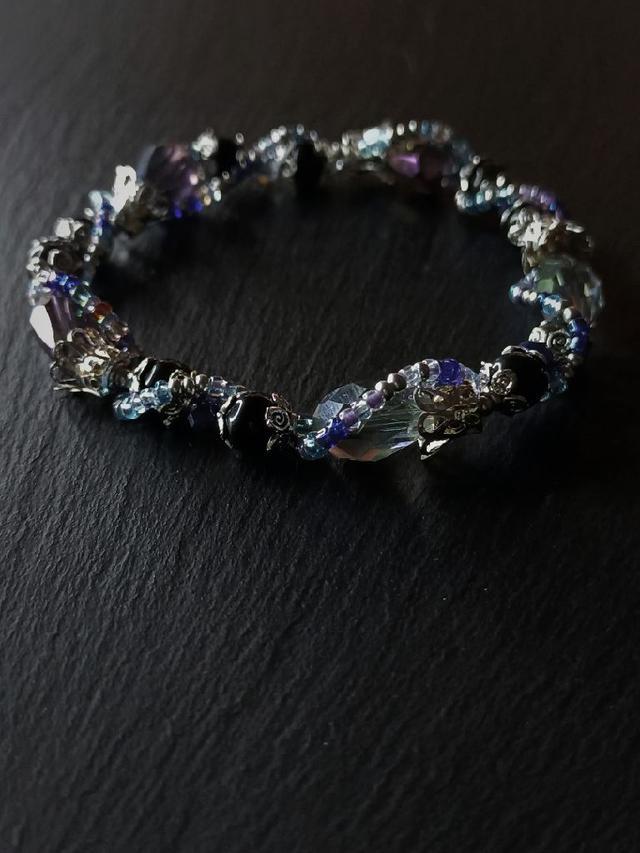 水晶手環#黑潮