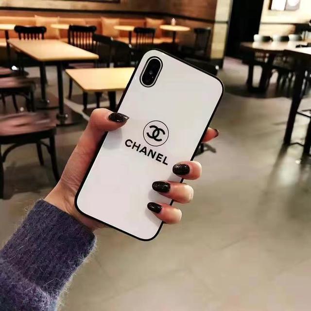 香奈兒iphone11手機殼玻璃7plus潮牌玻璃蘋果XSMAX保護套8PLUS/6s
