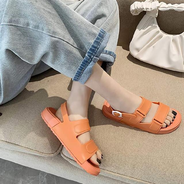 (預購s+) C009-夏季糖果色一字厚底涼鞋