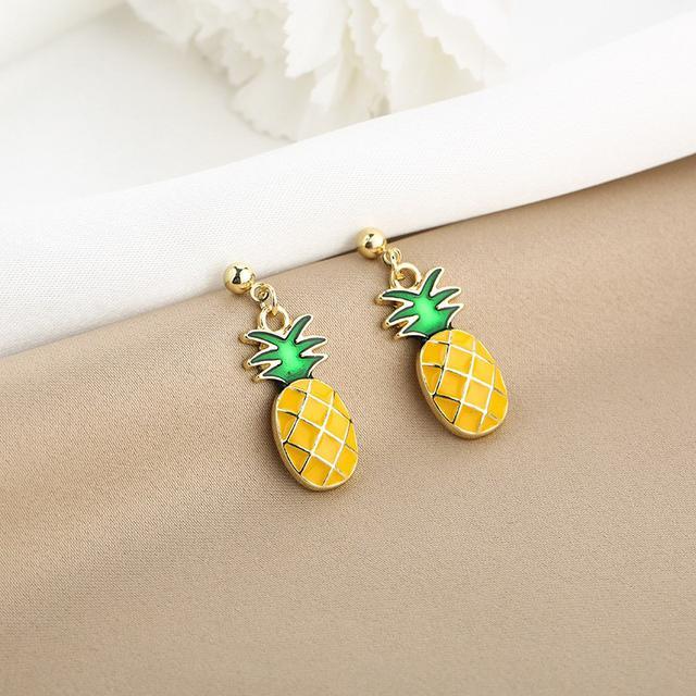 CX5203  可愛水果菠蘿耳釘
