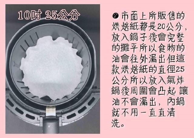 🔥必團🔥訂製獨家款(10吋)芬蘭原料台灣製造氣炸鍋不沾紙