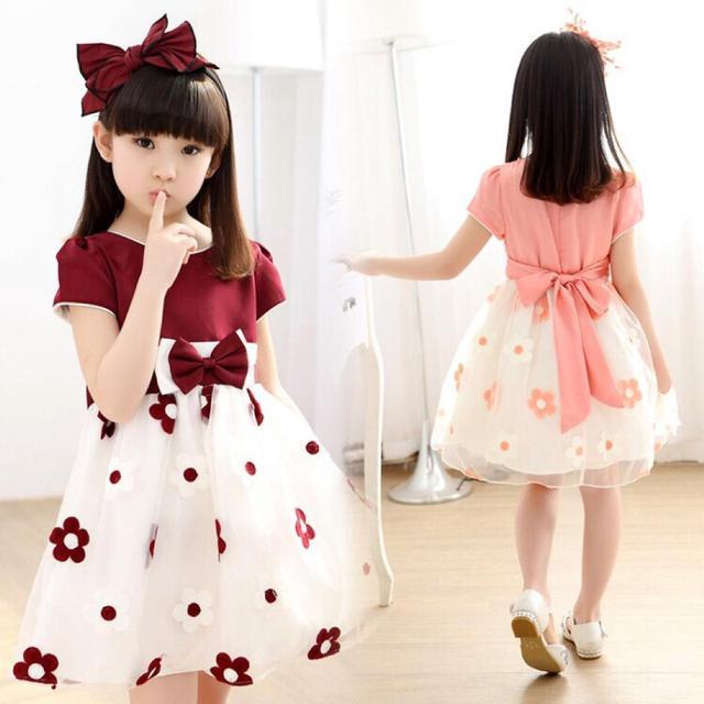 夏季新款童裝中童連衣裙中大童韓版可愛寬鬆太陽花裙子超低價