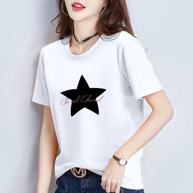 純棉女裝夏季短袖T恤女卡通寬松潮