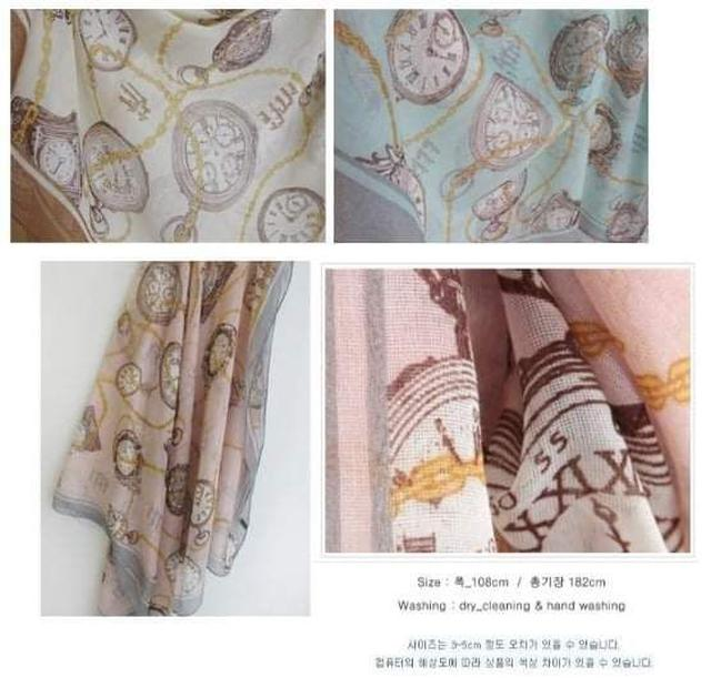 (預購S) B097 - 秋冬女士巴厘紗薄款圍巾 (一組2條)